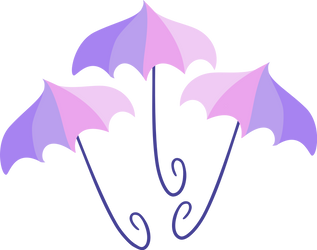Umbrellas cutie mark by The-Smiling-Pony