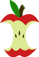 Apple Core cutie mark request by The-Smiling-Pony