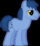 Blues background pony