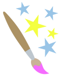 Paintbrush and stars cutie mark request