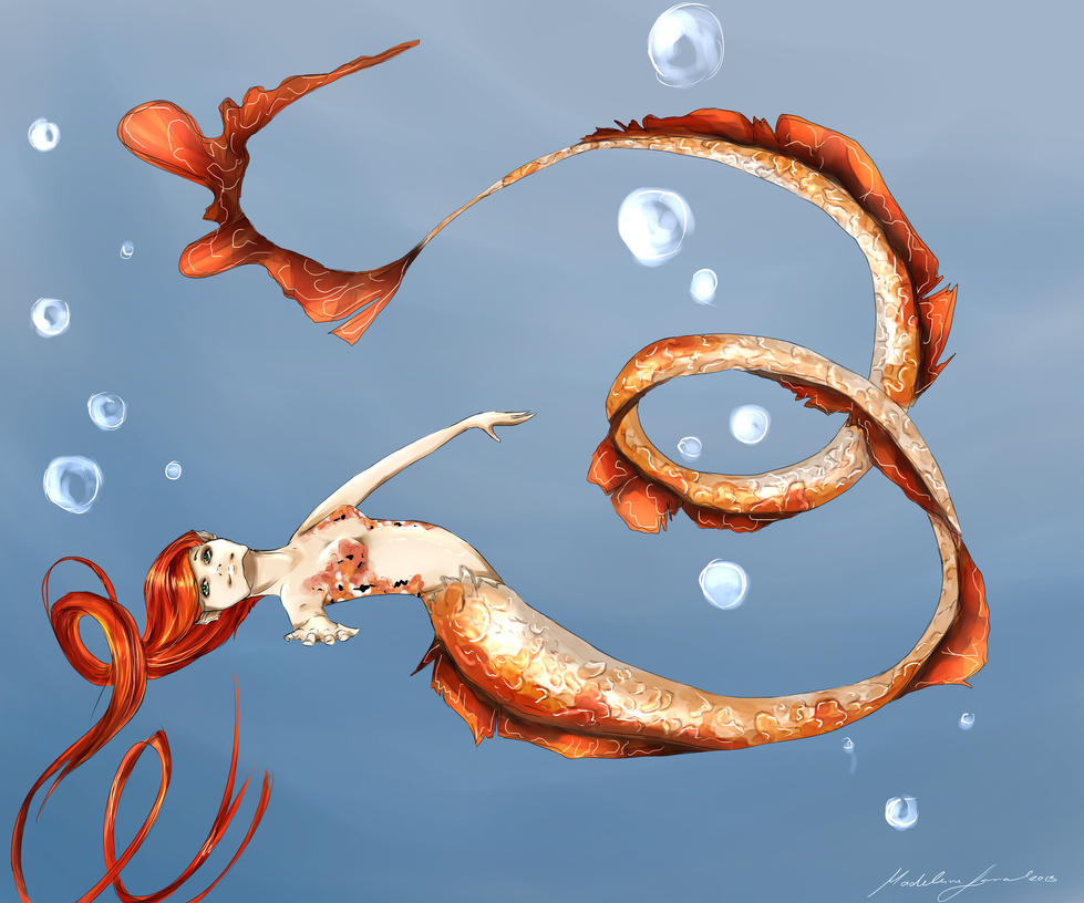 Koi - Dragon of the sea by hunnyclover