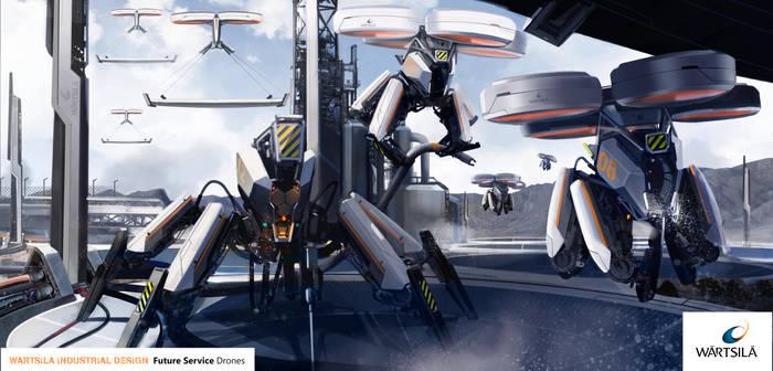 Wartsila Future Service drones