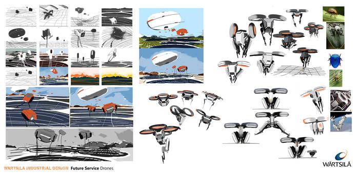Wartsila Service Drones Concept Drawings