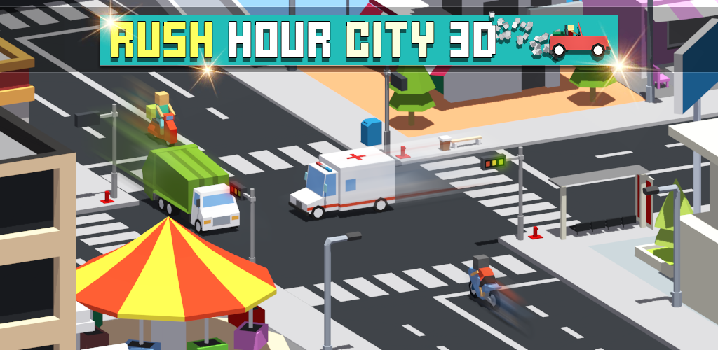 Banner Rush hour City 3D by nlsinh