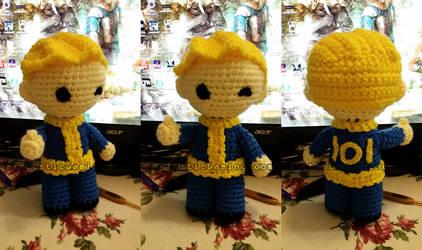 Vault Boy - Free Crochet Pattern - Fallout