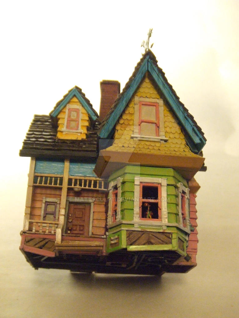 Pixar/Disney's Up house model by MattSculpt on DeviantArt Up House Pixar Drawing