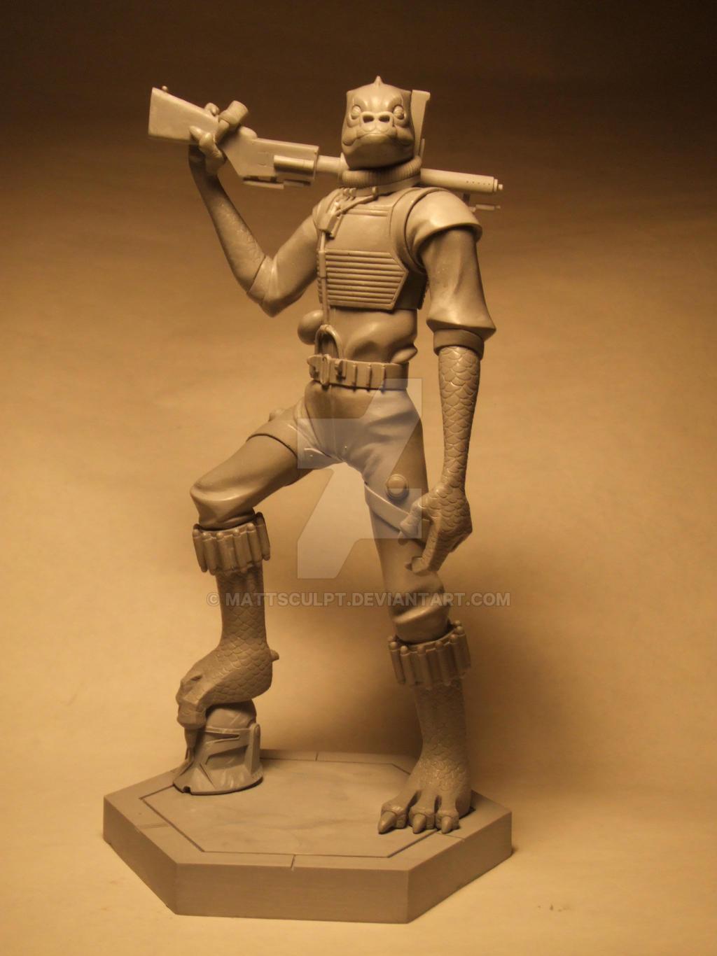 Bossk The Clone Wars Maquette By Mattsculpt On Deviantart