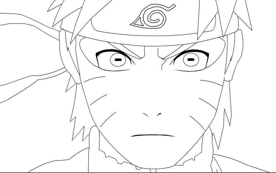 Naruto sage mode lineart by dranzertheeternal