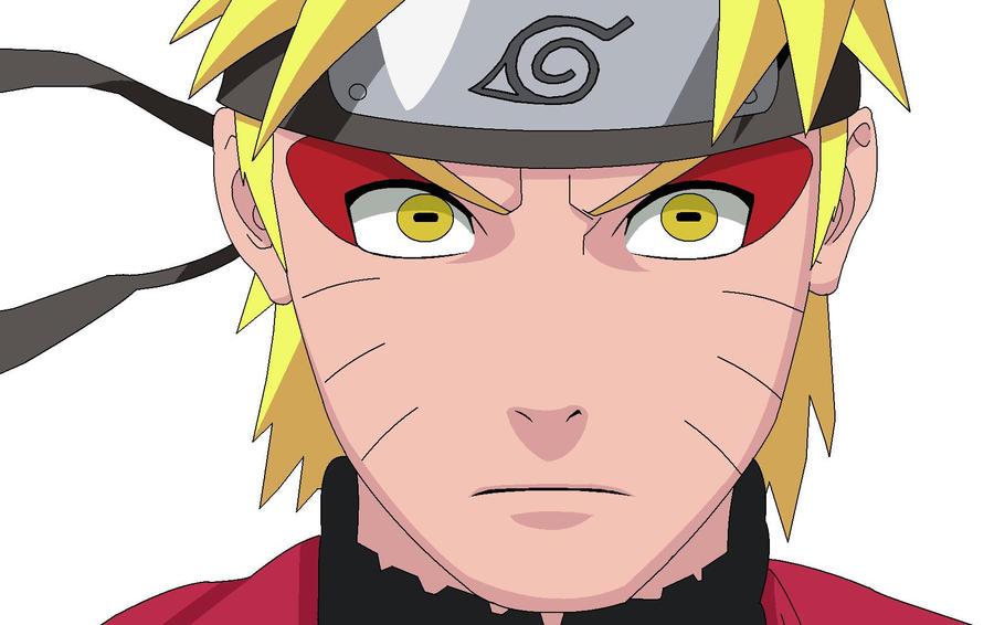 Naruto sage mode coloured by dranzertheeternal