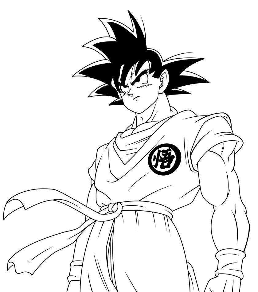 D Line Drawings Logo : Goku arrived lineart by dranzertheeternal on deviantart