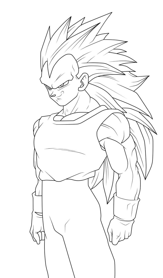vegeta super saiyan 3 coloring pages - super saiyan 4 gogeta coloring pages