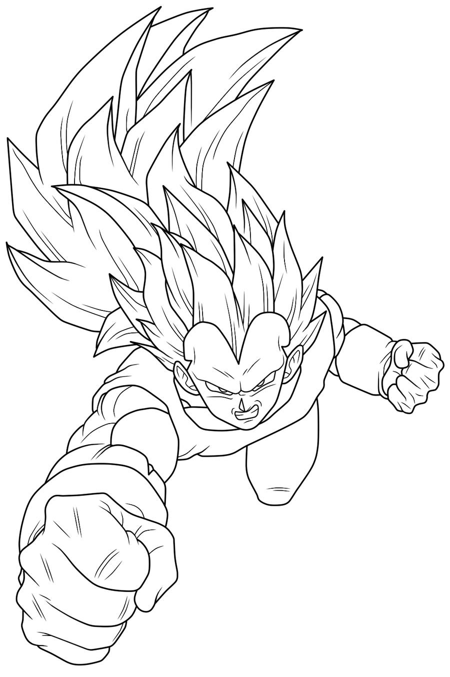 Vegeta ssj3 pages coloring pages for Dragon ball z vegeta coloring pages