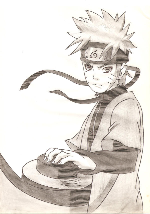 Naruto Sage Mode by Dr... Naruto Uzumaki Sage Mode Drawing