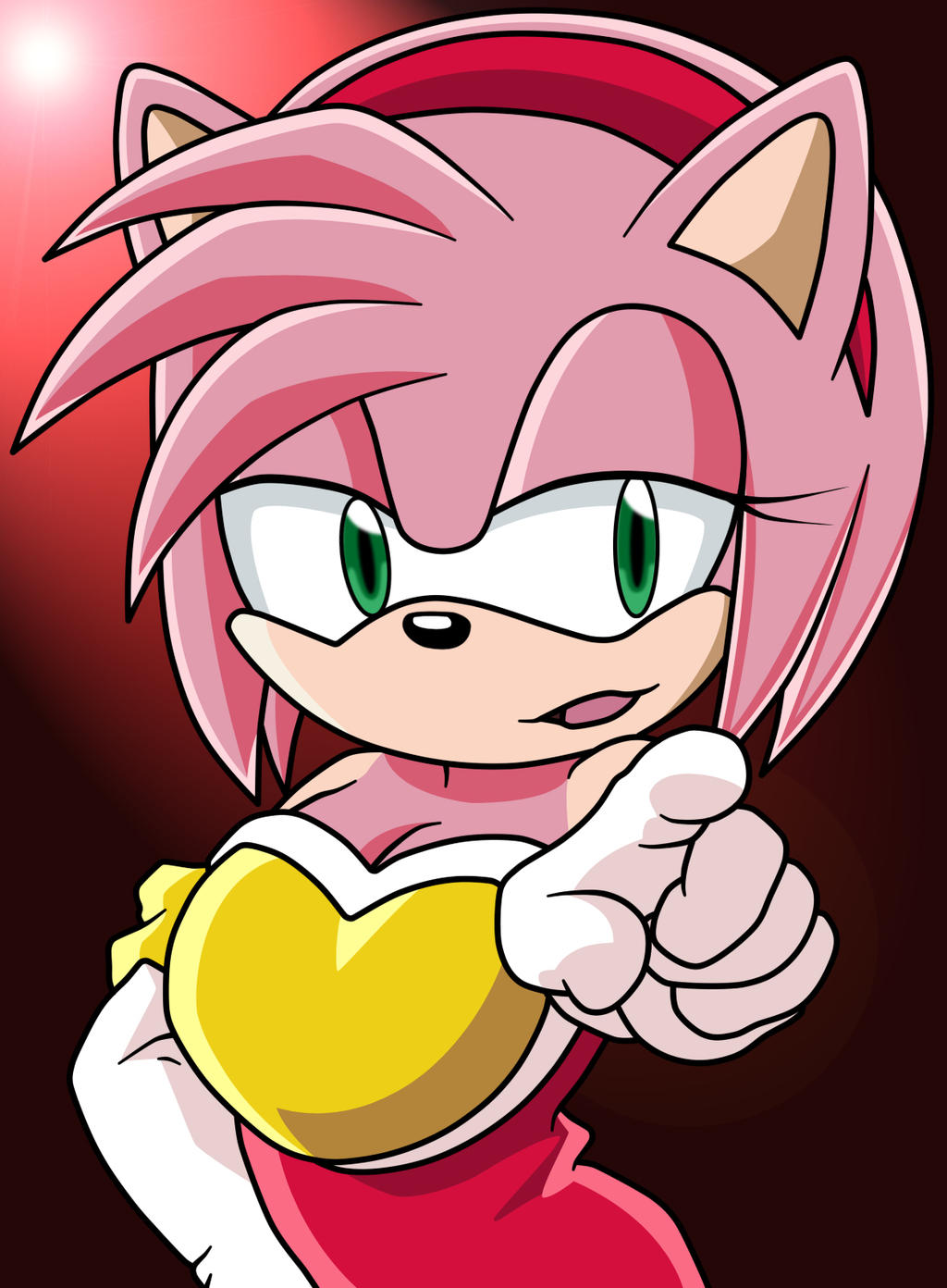 Amy rose with rouge s clothes remake by dranzertheeternal on