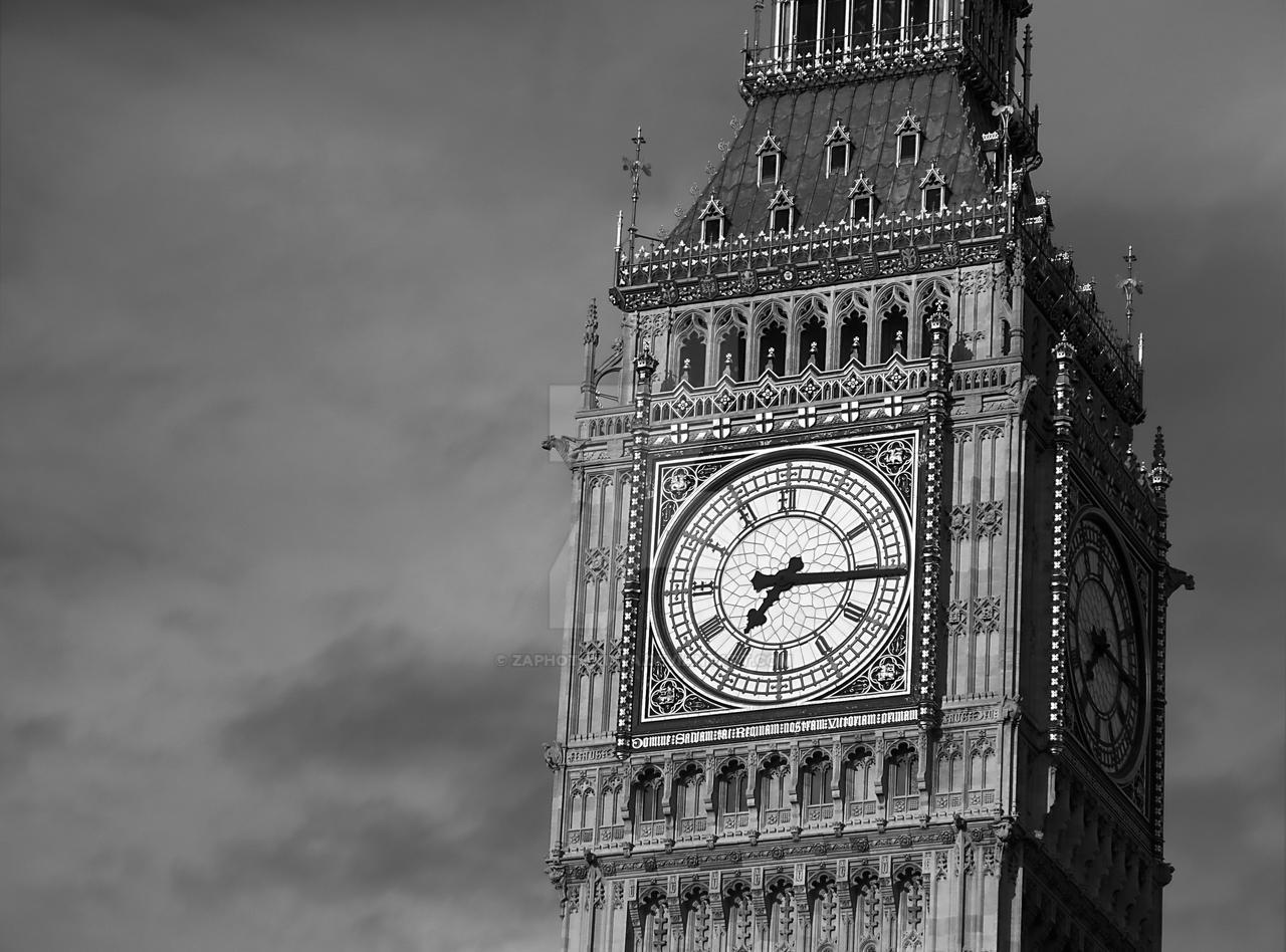 Big Ben 3 Black And White By Zaphotonista On DeviantArt