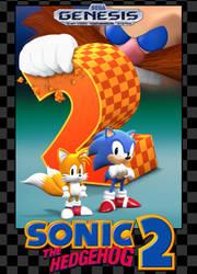 Sonic 2 Box Art Recreation