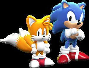 Sonic 2 Box Art Recreation (transparent version)
