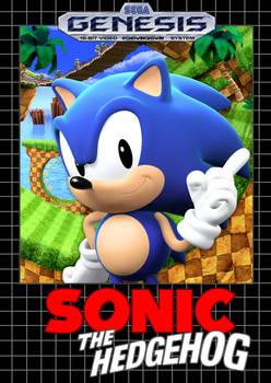 Sonic 1 Box Art Recreation