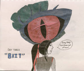 Inktober 2019-Day Three: Bait