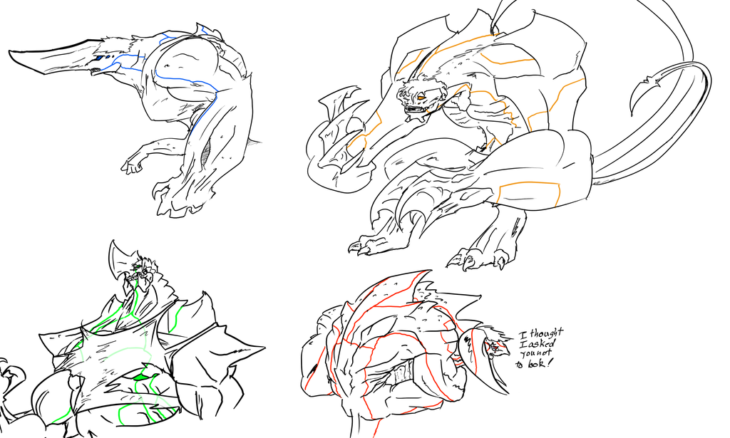 Pacific Rim Kaiju Hybrids by SpottedAlienMonster on DeviantArt Pacific Rim Scunner Drawing