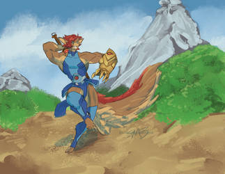 Lion-O but with a Tail by SpottedAlienMonster
