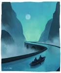 A Quiet Night - Fantasy Sketch