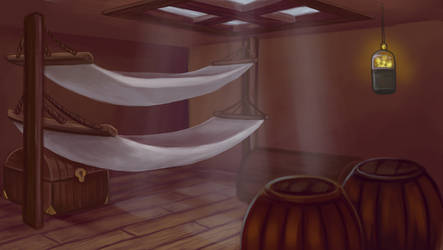 Steampunk project: bunkroom by ArcadiaRonin