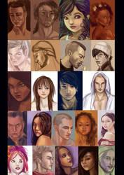 50 portraits by ArcadiaRonin