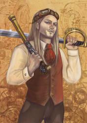 steampunk portrait by ArcadiaRonin
