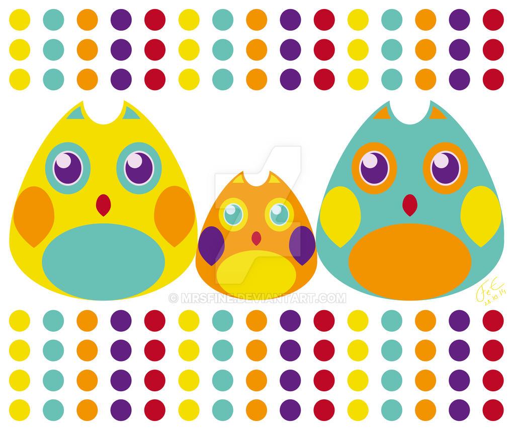 Owls by MrsFine