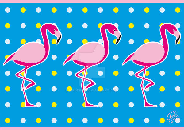 Pink Flamingos by MrsFine
