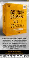Grunge brushes Vol.1 - 72 stripes