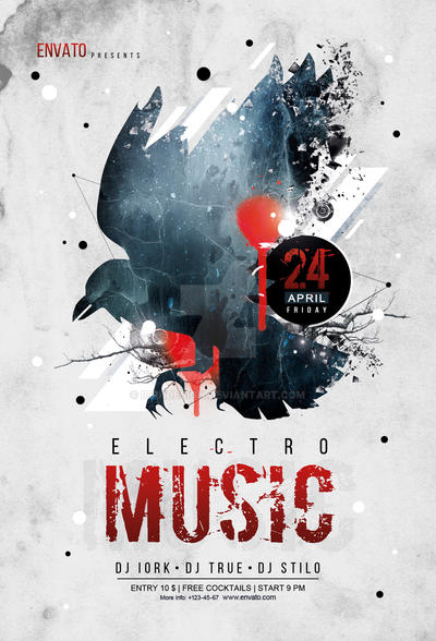 Electro Music Flyer By Iorkdesign On Deviantart
