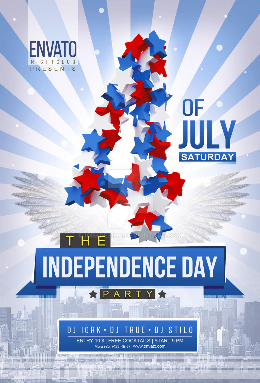Perfect Independence Day Flyer PSD By Iorkdesign Independence Day Flyer PSD By  Iorkdesign