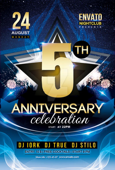 Anniversary Party Flyer By Iorkdesign On Deviantart
