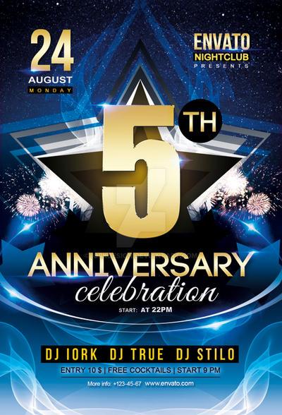 Anniversary Party Flyer by iorkdesign on DeviantArt – Anniversary Flyer
