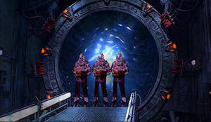 Cylons at the Stargate
