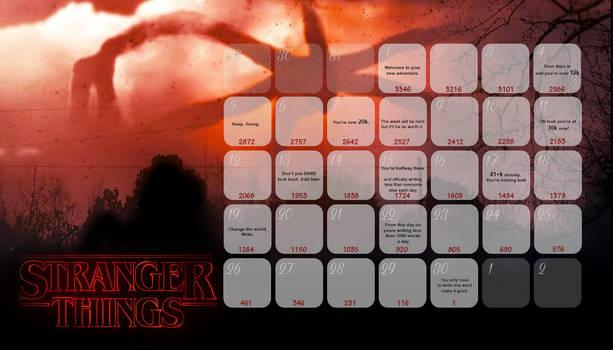 StrangerThings NaNo Calendar