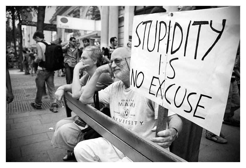 stupidity is no excuse by zort