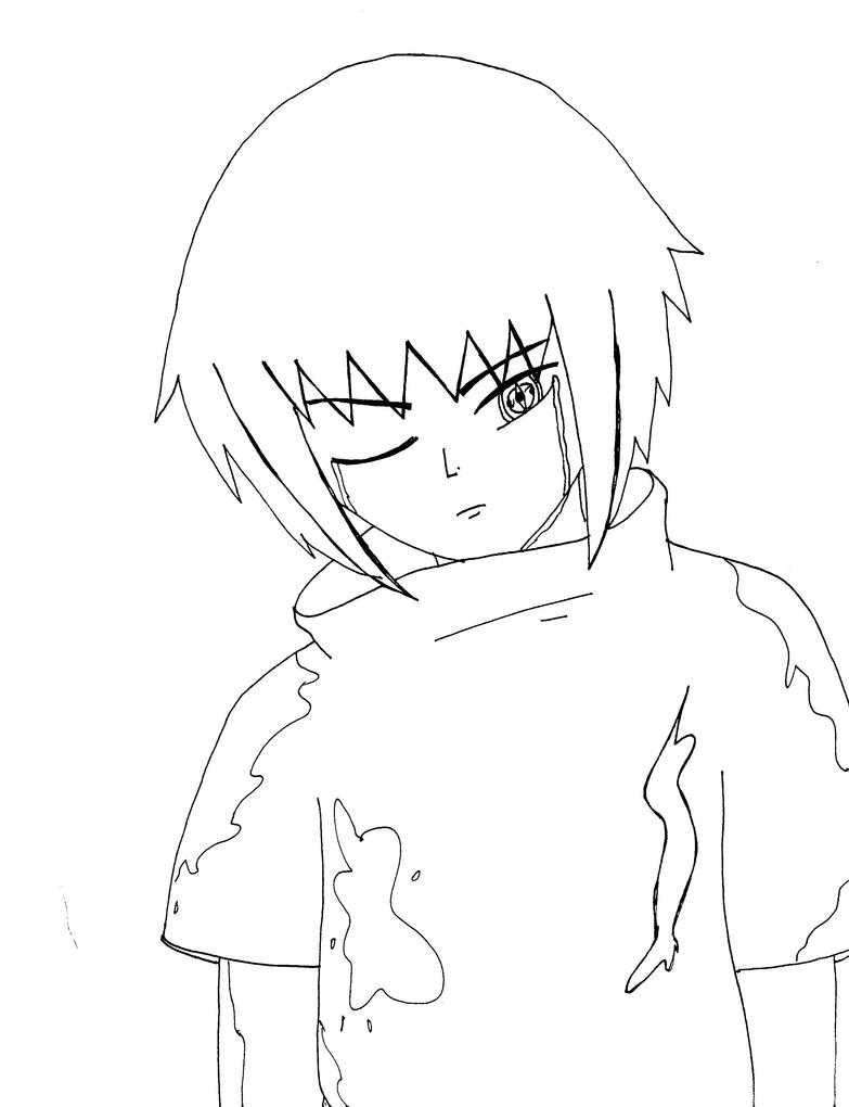 Dark nao lineart by emo sasuke018 on deviantart for Emo coloring pages