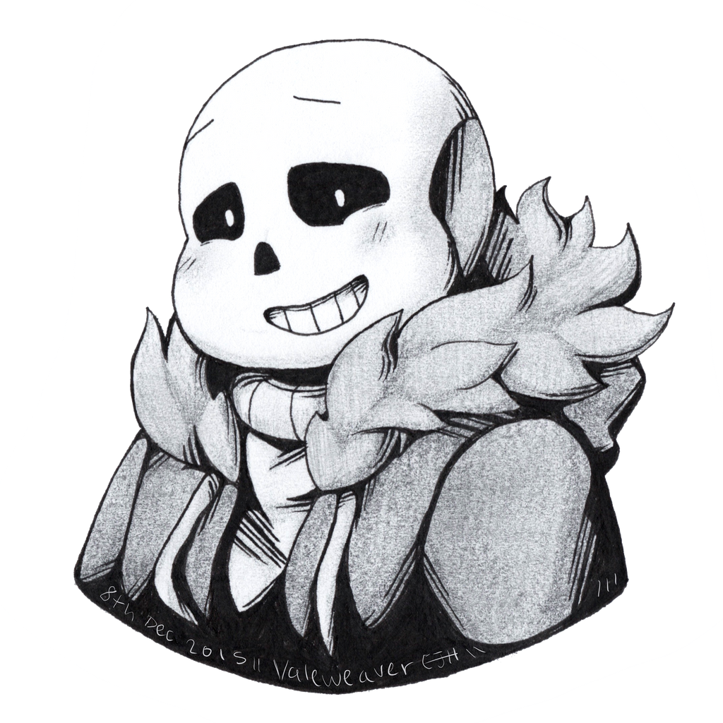 how to draw ink sans step by step