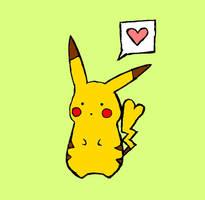 Pikachu Love by SwatchAngel