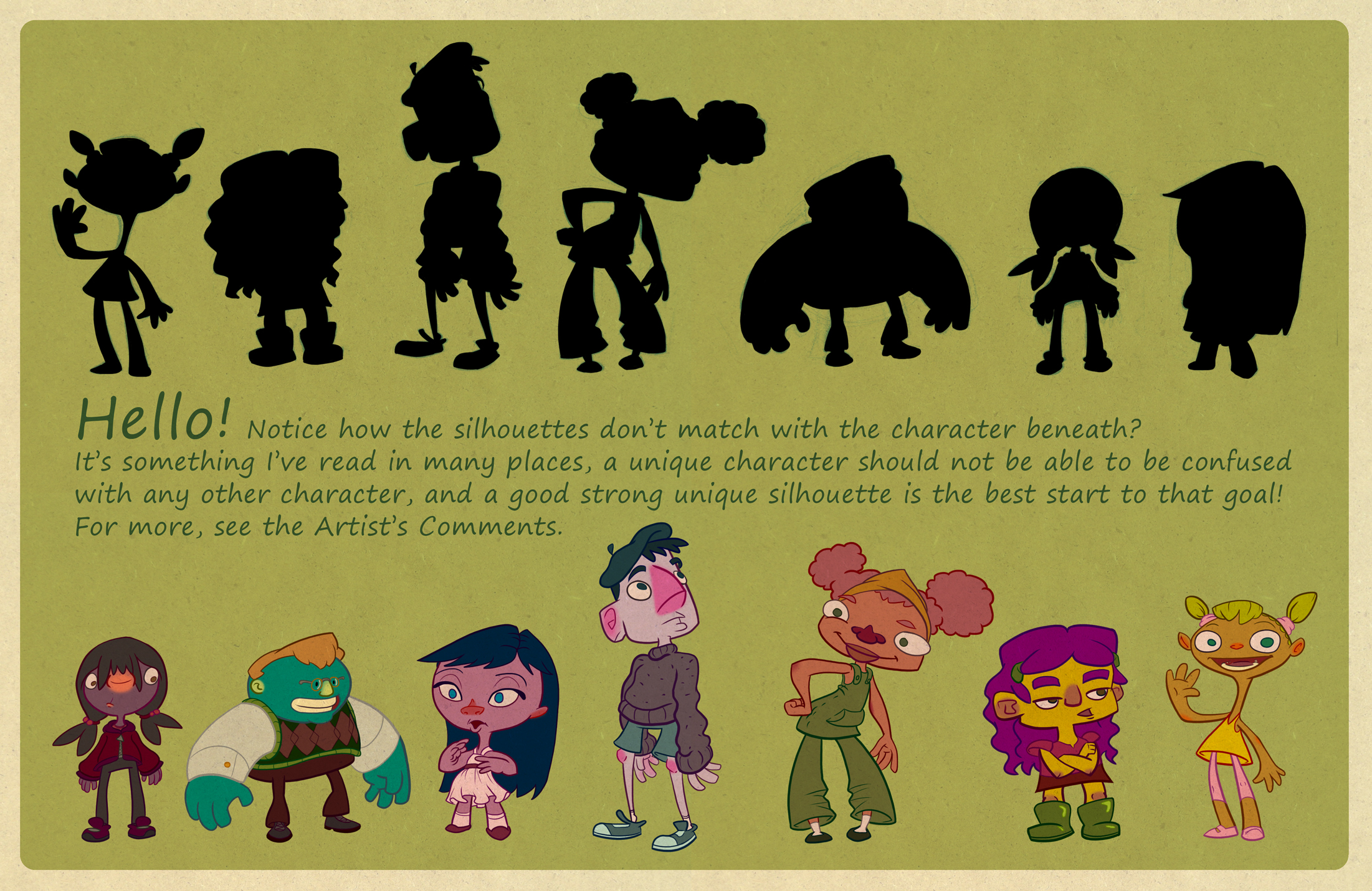 Character Design Silhouette Tutorial : Silhouettes character design by wizardwannabe on deviantart