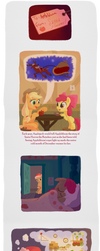 To Applebloom, From Santa Hooves page 1 by WizardWannabe