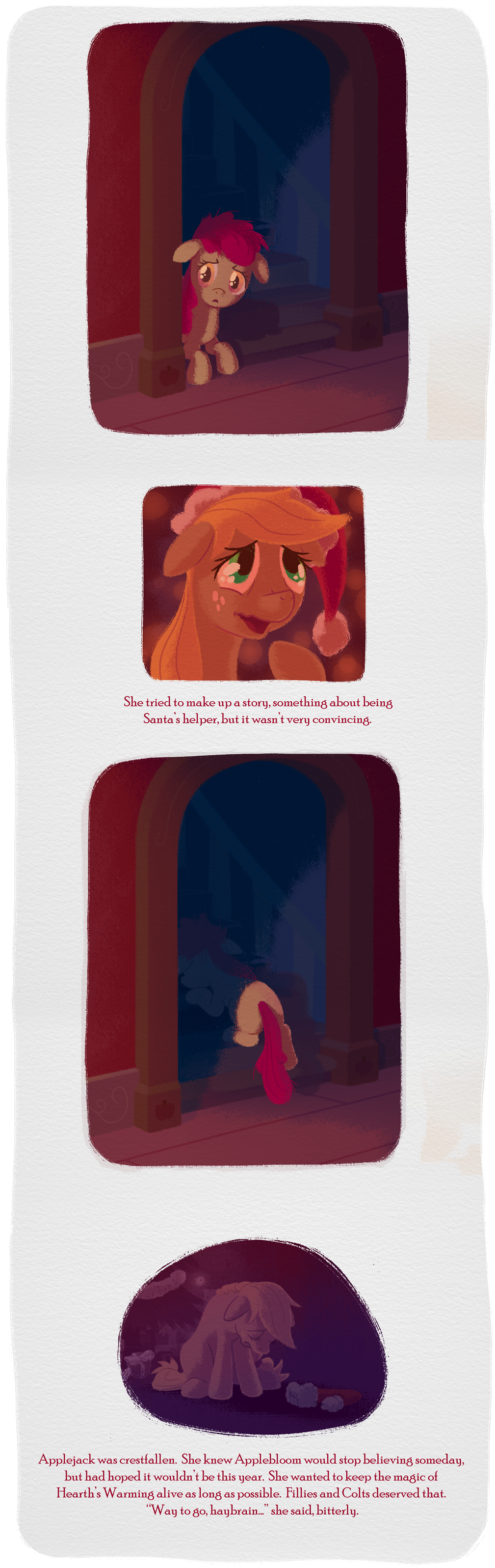 To Applebloom, From Santa Hooves page 4 by WizardWannabe