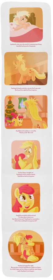 To Applebloom, From Santa Hooves page 5