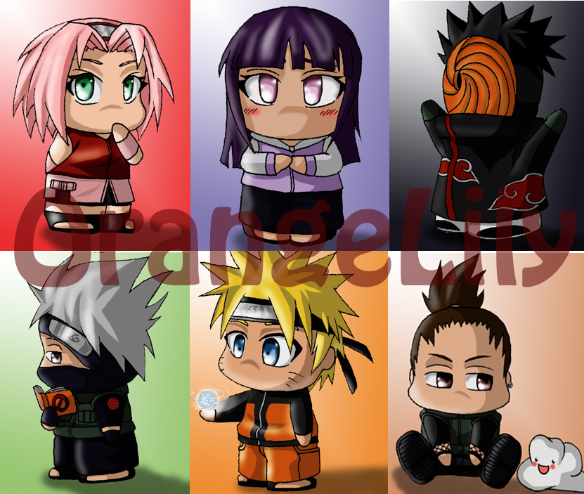 naruto bookmarks p1 by orangelily