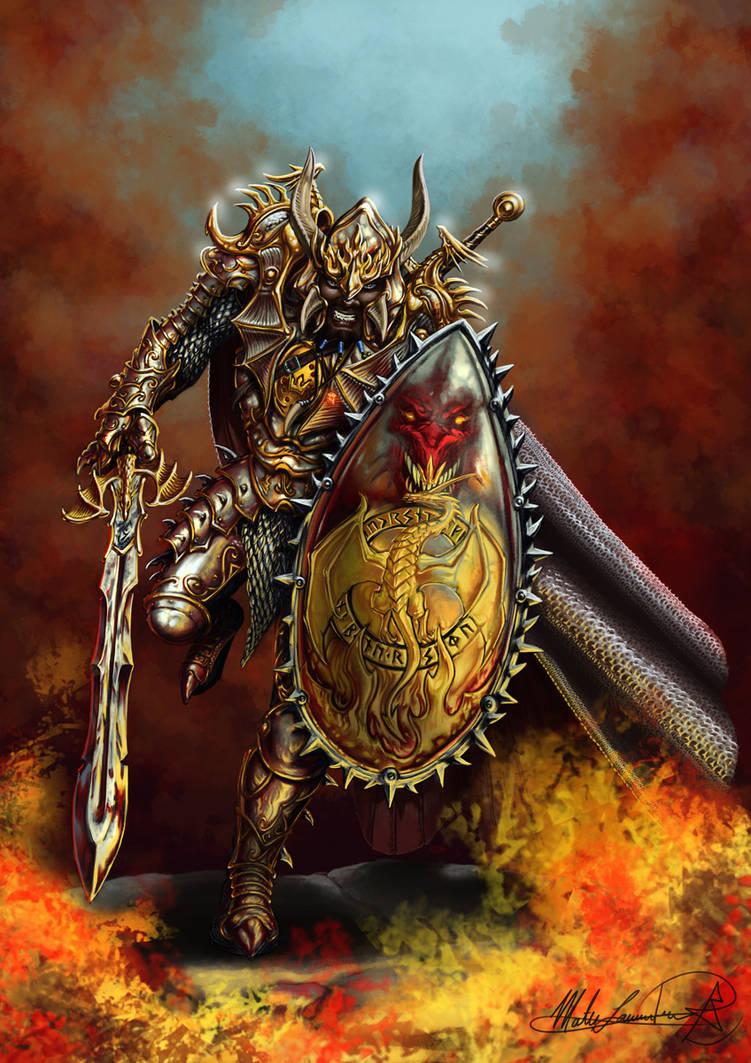 Myharl, the giant Dragonslayer by MatesLaurentiu