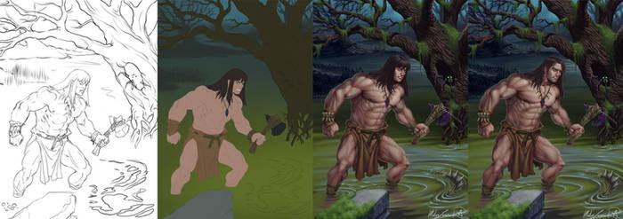 Swamp Hero steps