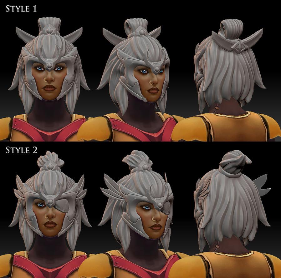 Legion Commander helmet WIP by nullf